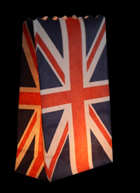 Union Jack Candle Bags White - Pk5