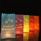 Candle Bags happy birthday mix colour