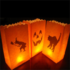 Halloween Candle Bags White