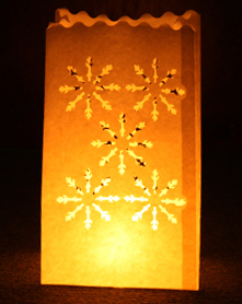 Candle Bags Snowflakes White