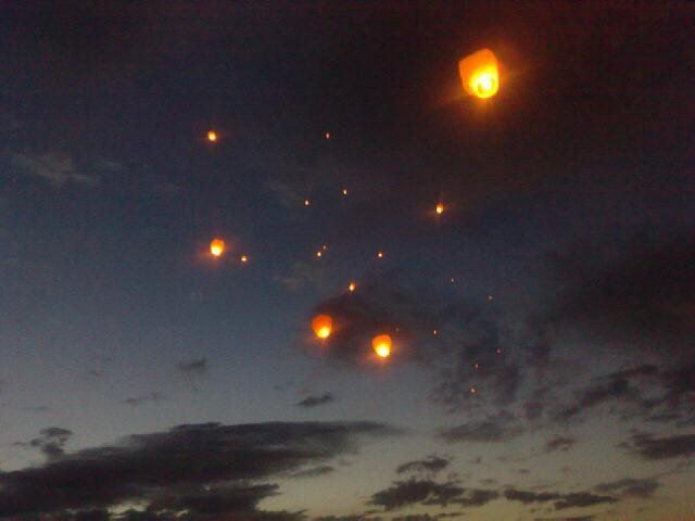 Sky Lanterns on the sky