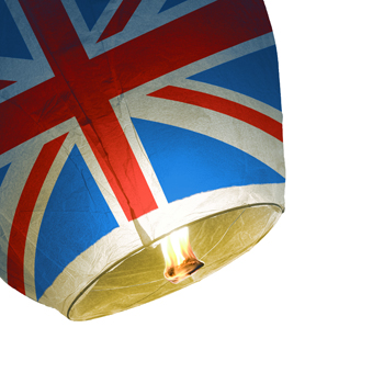 Union Jack Novelty Sky Lanterns