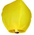 Yellow eco premium sky lanterns