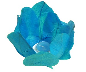 Blue lotus floating lanterns