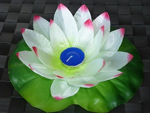 White - Pink  lotus flower floating lanterns