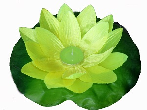 Yellow lotus flower floating lanterns