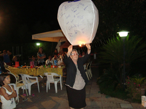 Lanterna volante rotonda bianca