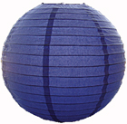 Blue Chinese Hanging Paper Lanterns