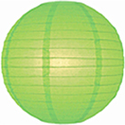 Green Lime Chinese Hanging Paper Lanterns
