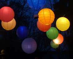 Mixed paper hanging lanterns