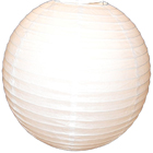 White Chinese Paper Hanging Lanterns